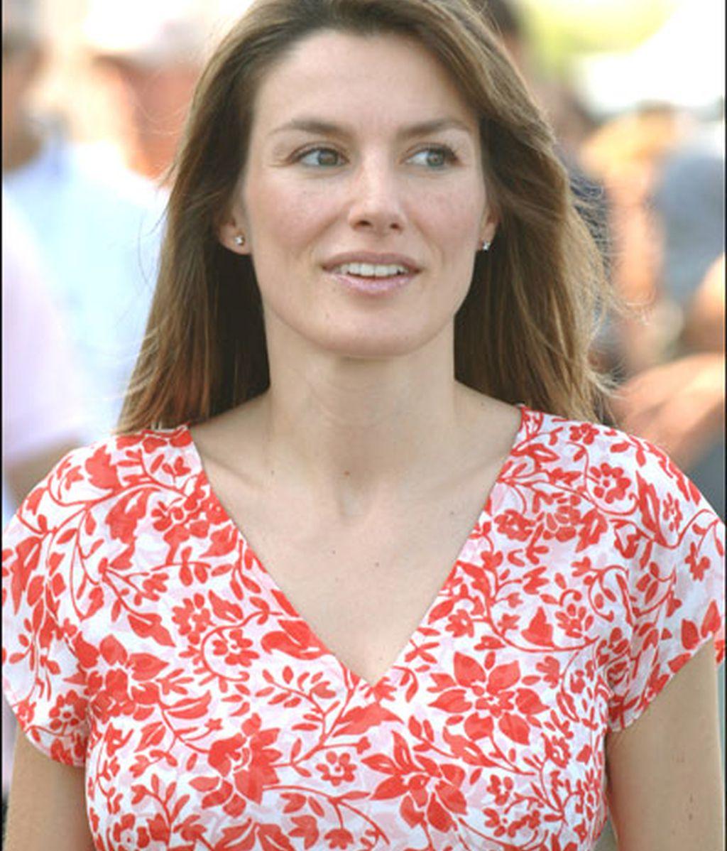 Embarazada de la infanta Leonor en julio de 2005