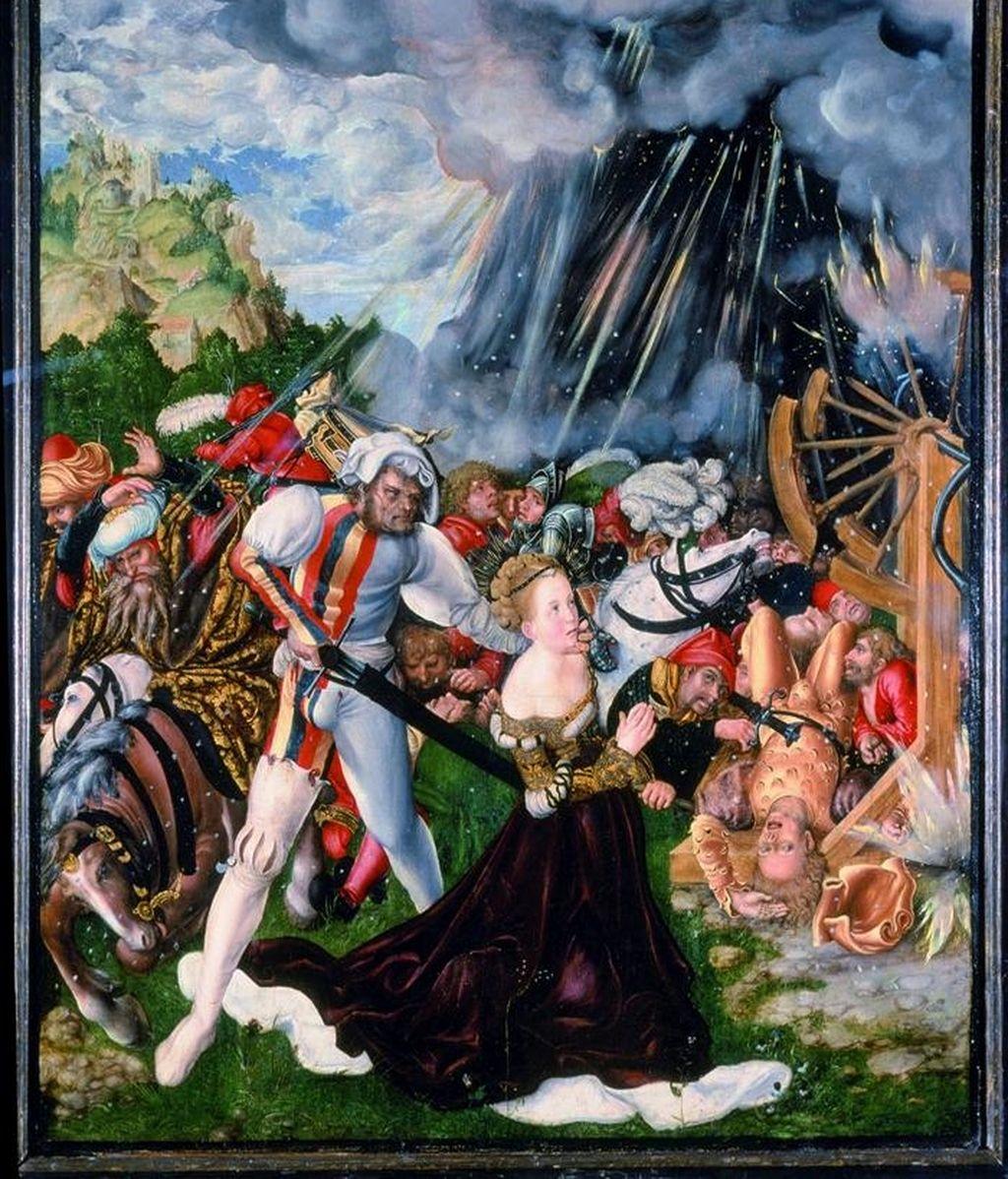"""Fotografía facilitada por el Museo de Luxemburgo, del cuadro """"Martirio de Santa Catalina"""", del pintor y diseñador de grabados renacentista alemán Lucas Cranach """"El Viejo"""". EFE"""