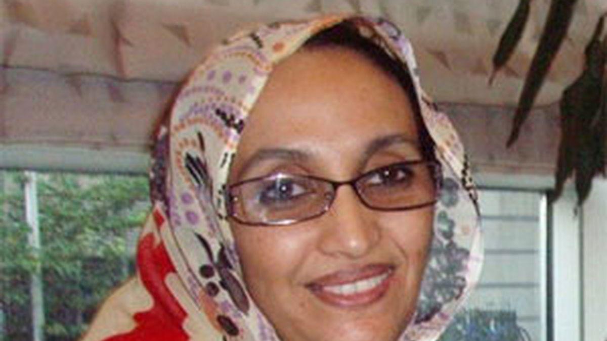 La activista saharaui Aminatu Haidar continúa retenida. Foto: Archivo.