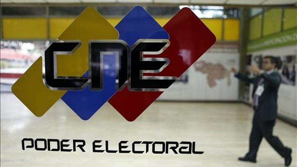 Fotografía que muestra un aspecto de la sede del Centro Nacional Electoral (CNE) en Caracas (Venezuela). Unos 17,7 millones de venezolanos están convocados a elegir el próximo domingo a los 165 diputados de la Asamblea Nacional (Congreso). EFE