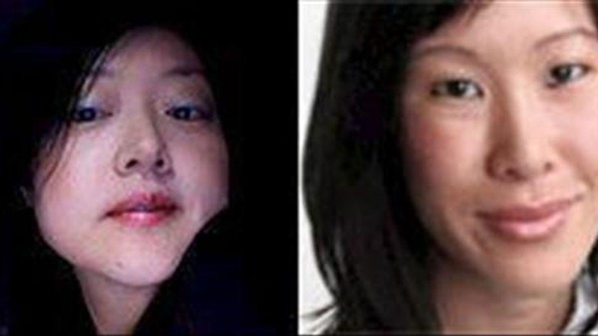 Combo de fotografías sin fecha divulgada por la agencia surcoreana de noticias Yonhap de las periodistas estadounidenses Euna Lee (i) y Laura Ling (d). EFE