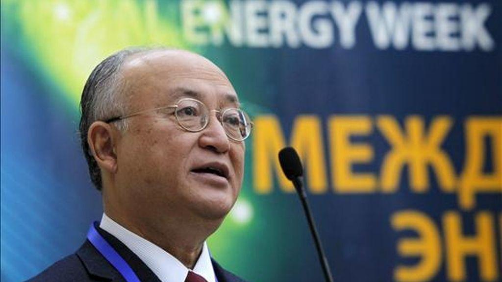 El director general del Organismo Internacional de la Energía Atómica (OIEA), el japonés Yukiya Amano. EFE/Archivo