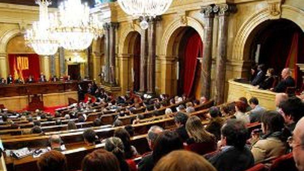 El Parlament, reunido. Foto: EFE.
