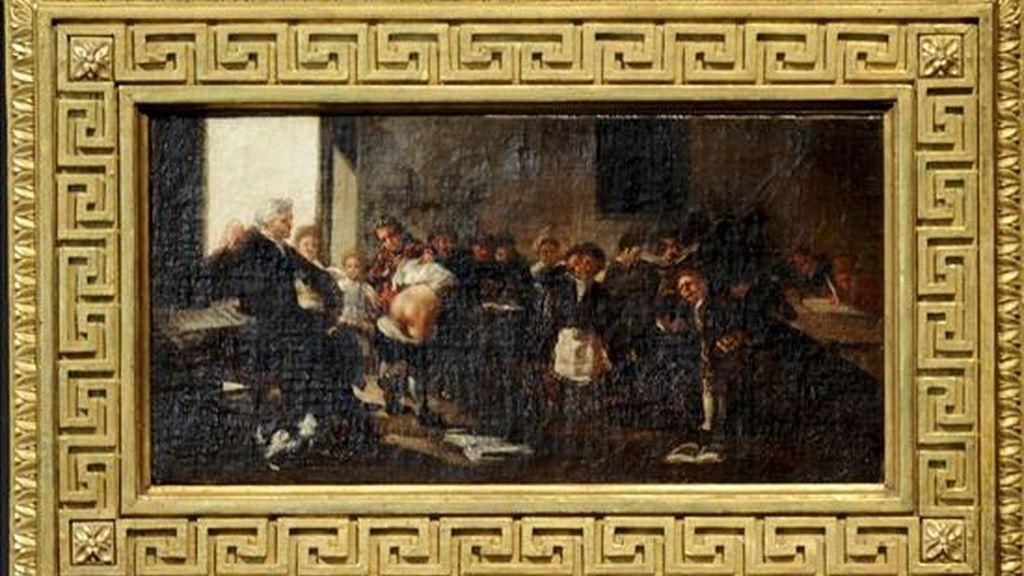 """Cuadro de Francisco de Goya """"La letra con sangre entra"""", Adquirido recientemente por el Gobierno de Aragón. EFE/Archivo"""