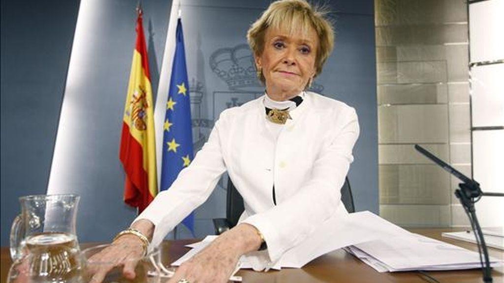 La vicepresidenta primera del Gobierno, María Teresa Fernández de la Vega. EFE/Archivo