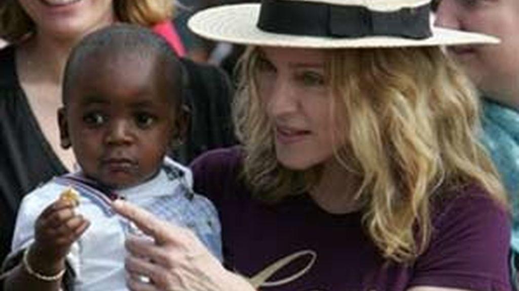 Madonna, en Malawi. Foto: AP