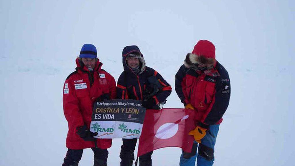 El momento de la llegada al Polo Norte