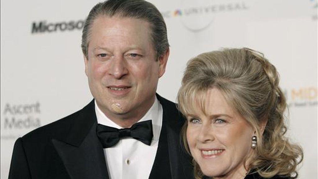 Al Gore, vicepresidente durante el Gobierno de Bill Clinton y premio Nobel de la Paz en 2007, anunció el pasado 1 de junio la separación de mutuo acuerdo de su esposa Tipper, madre de sus cuatro hijos y con la que llevaba casado cuarenta años. EFE/Archivo