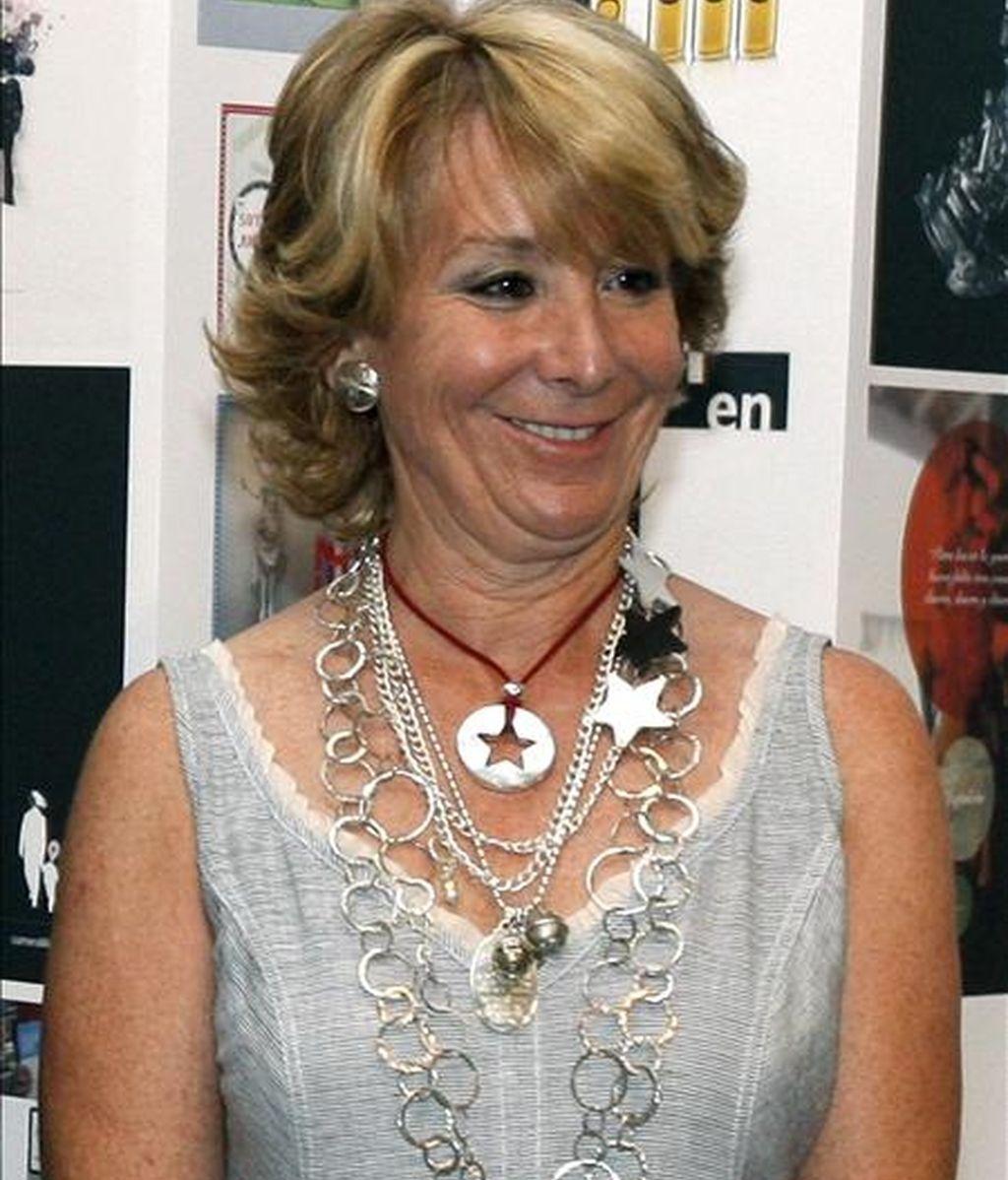 La presidenta de la Comunidad, Esperanza Aguirre. EFE/Archivo