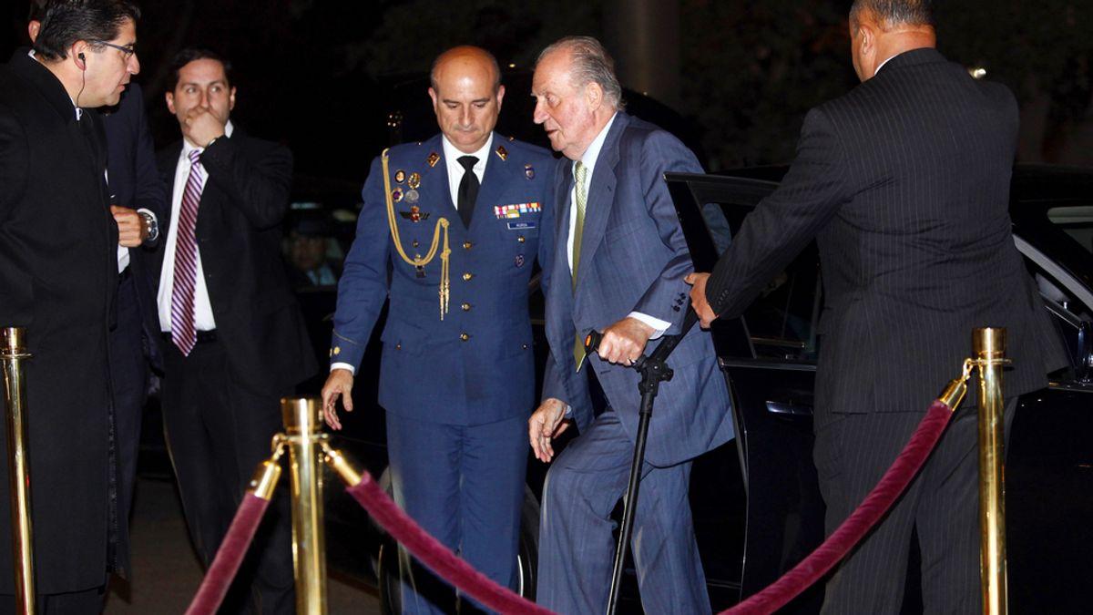 El Rey Don Juan Carlos llega a Chile