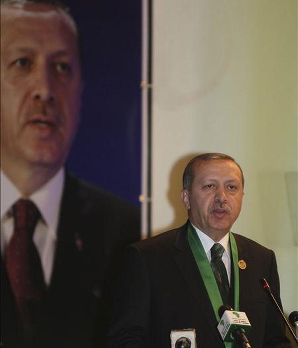 El primer ministro turco, Recep Tayyip Erdogan. EFE/Archivo