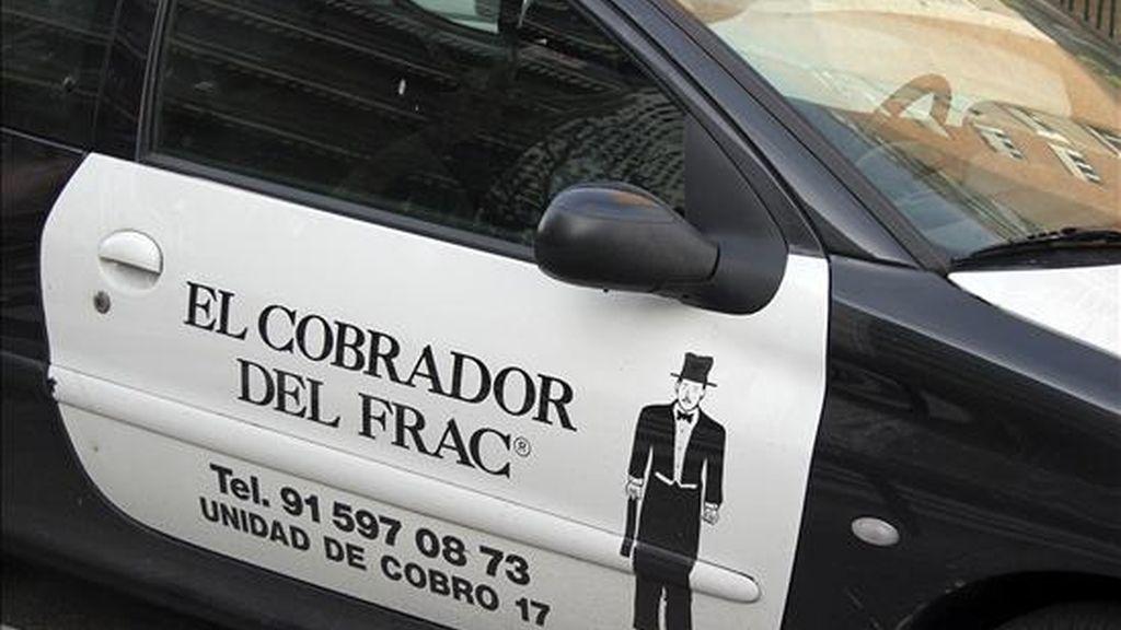 """Vehículo del """"cobrador del frac"""", sistema de pago de deudas a los contribuyentes morosos. EFE/Archivo"""