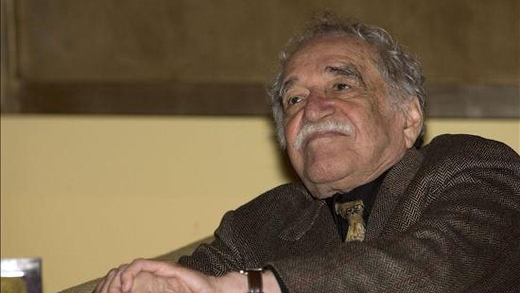 El Nobel de Literatura colombiano, Gabriel García Márquez, el pasado 16 de noviembre de 2010, en la entrega de la Orden de Isabel la Católica durante una ceremonia celebrada en Ciudad de México. EFE/Archivo