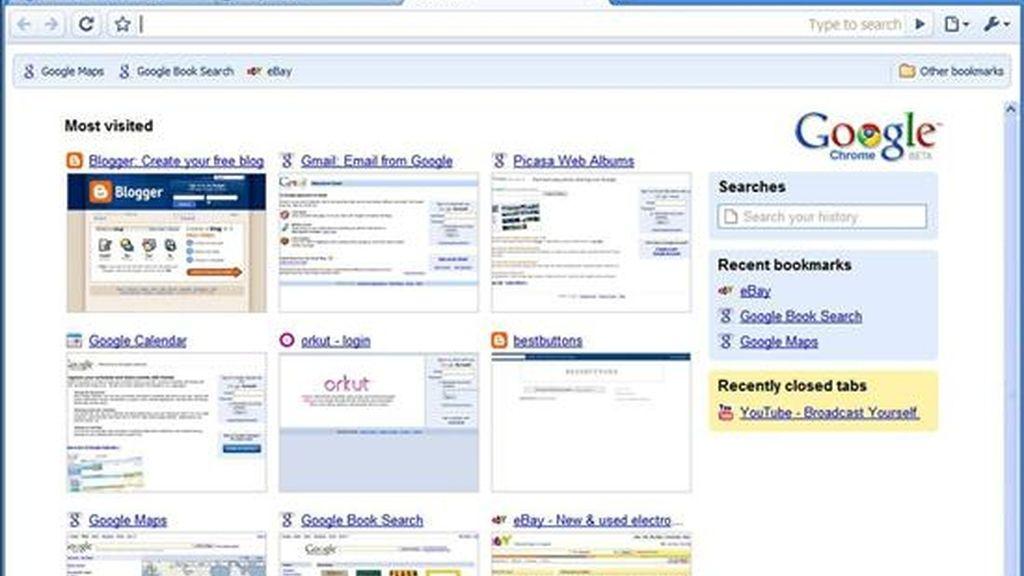 """Fotografía cedida por Google que muestra el nuevo aspecto del buscador """"Chrome"""". EFE/Archivo"""