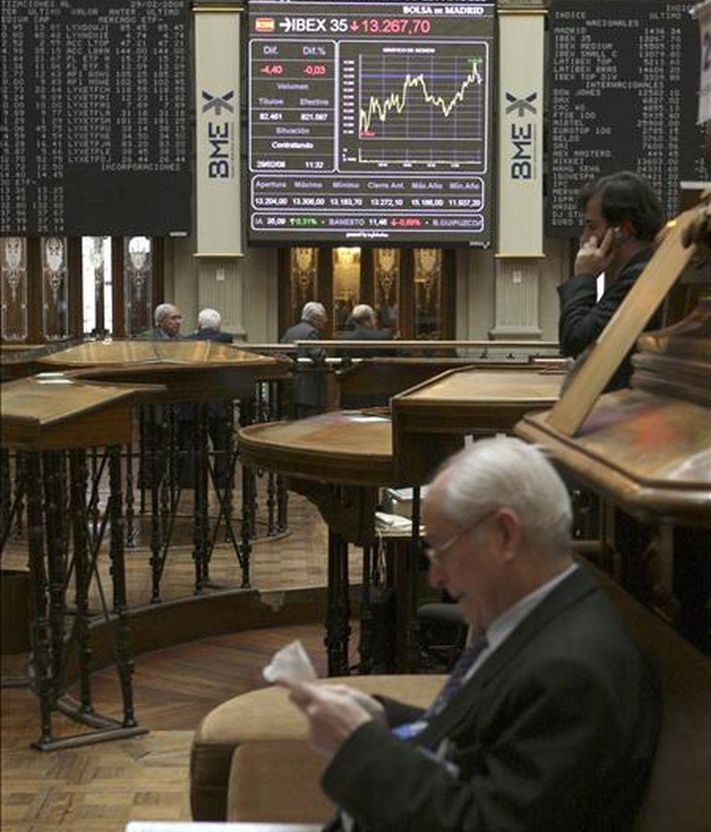 Vista parcial de la Bolsa de Madrid. EFE/Archivo