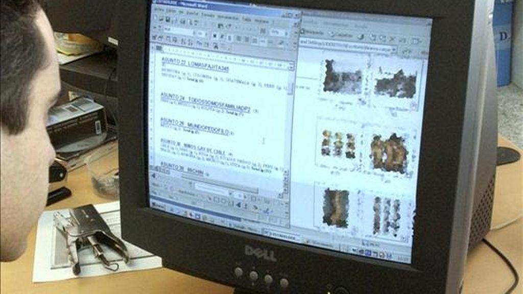 Material incautado en una operación contra la pornografía infantil. EFE/Archivo