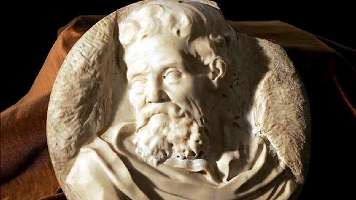 En la imagen, una escultura de Miguel Angel, de la que los expertos opinan que puede ser un autoretrato. EFE/Archivo