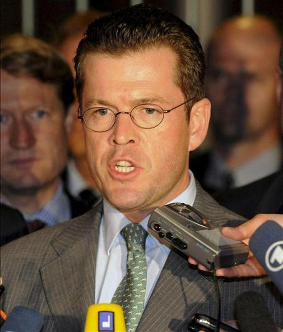 El ministro de Economía alemán, Karl-Theodor zu Guttenberg. EFE/Archivo