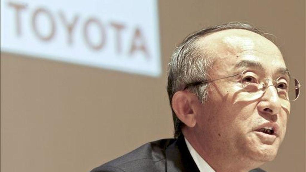 El presidente de Toyota, Katsuaki Watanabe. EFE/Archivo