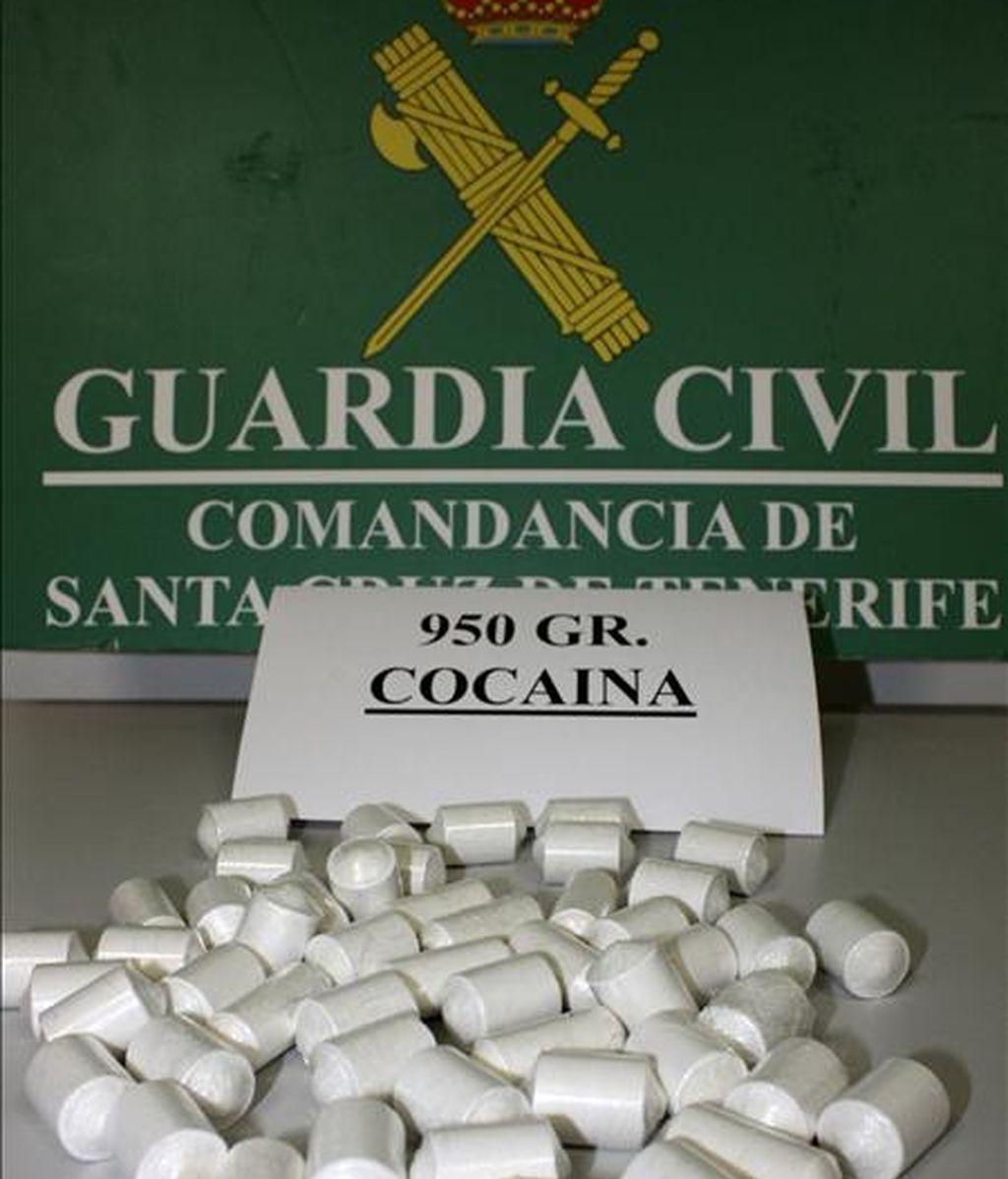 Vista de cocaína incautada por la Guardia Civil. EFE/Archivo