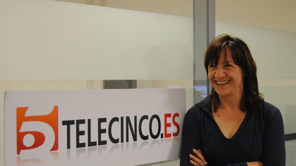 Blanca Portillo visita telecinco.es