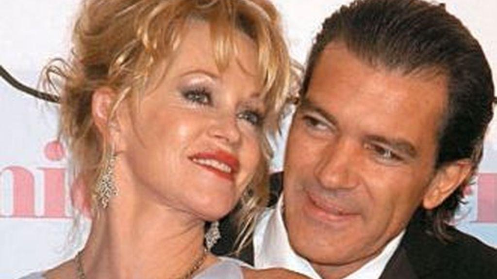 Antonio Banderas ha hablado de las pasadas adicciones de Melanie Griffith, pero también del secreto de su matrimonio. Foto ARchivo