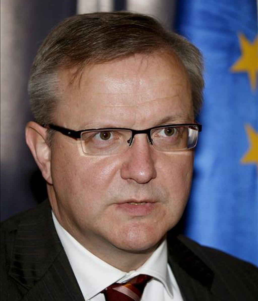 El comisario europeo para la Ampliación, Olli Rehn. EFE/Archivo