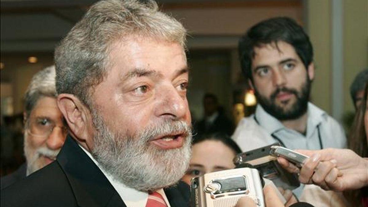 Lula dijo que está preocupado porque hasta ahora no ha visto que algún medio de comunicación proteste por la detención de Assange. EFE/Archivo