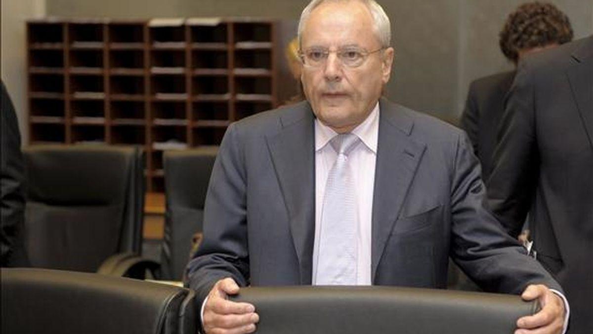 El comisario europeo de Justicia y Seguridad, Jacques Barrot, hoy en Luxemburgo. EFE