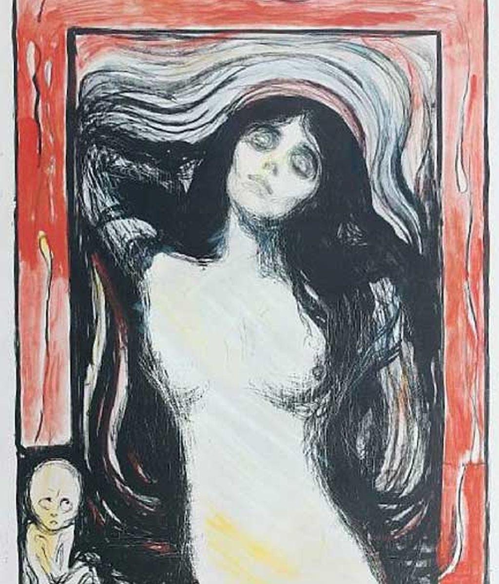 Una de las versiones de 'Madonna', realizada por Eduard Munch. Foto: Bonhams.