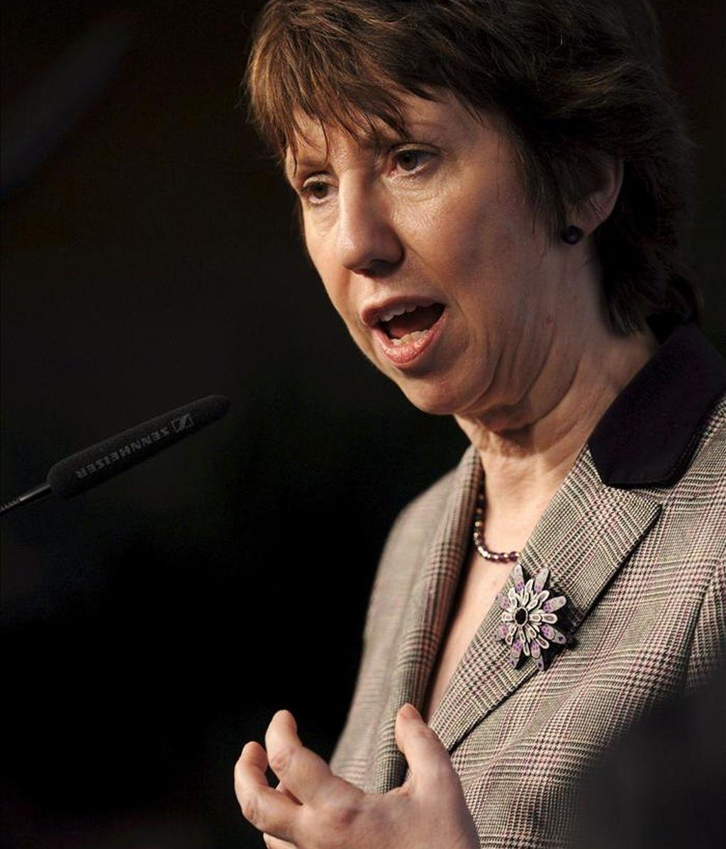 La alta representante de la Unión Europea para Política Exterior, Catherine Ashton. EFE/Archivo