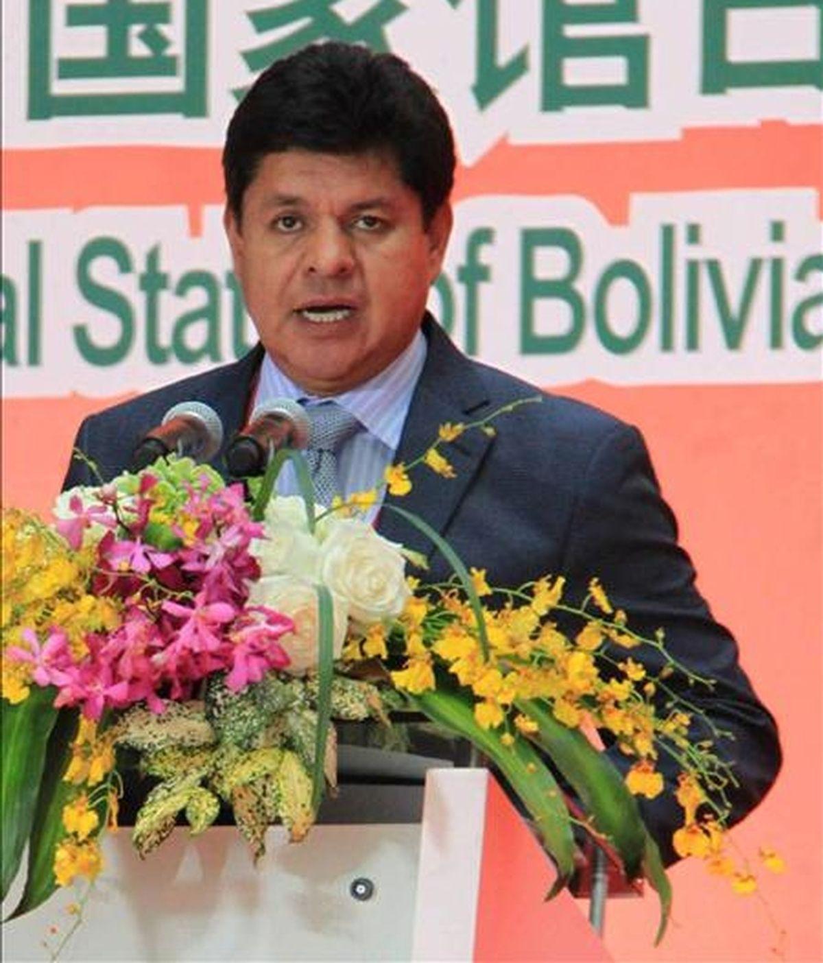 El ministro de Defensa boliviano, Rubén Saavedra, en la Expo de Shánghai (China). EFE/Archivo