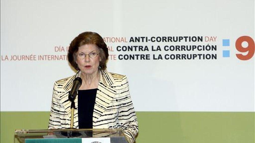 La presidenta de la ONG Transparencia Internacional, Huguette Labelle. EFE/Archivo