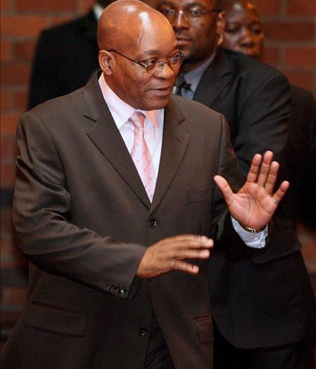 El líder del gobernante Congreso Nacional Africano (CNA) y principal candidato a la Presidencia de Sudáfrica, Jacob Zuma. EFE/Archivo