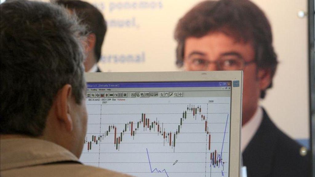 Imagen del Salón de la Bolsa y otros Mercados Financieros. EFE/Archivo