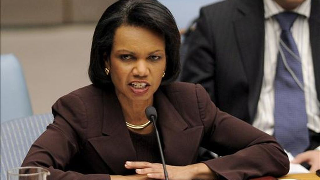 """El 17 de julio de 2002, Condoleezza Rice, como Consejera de Seguridad Nacional de la Casa Blanca, dijo que la CIA podría proceder con """"métodos alternativos de interrogatorio"""". EFE/Archivo"""