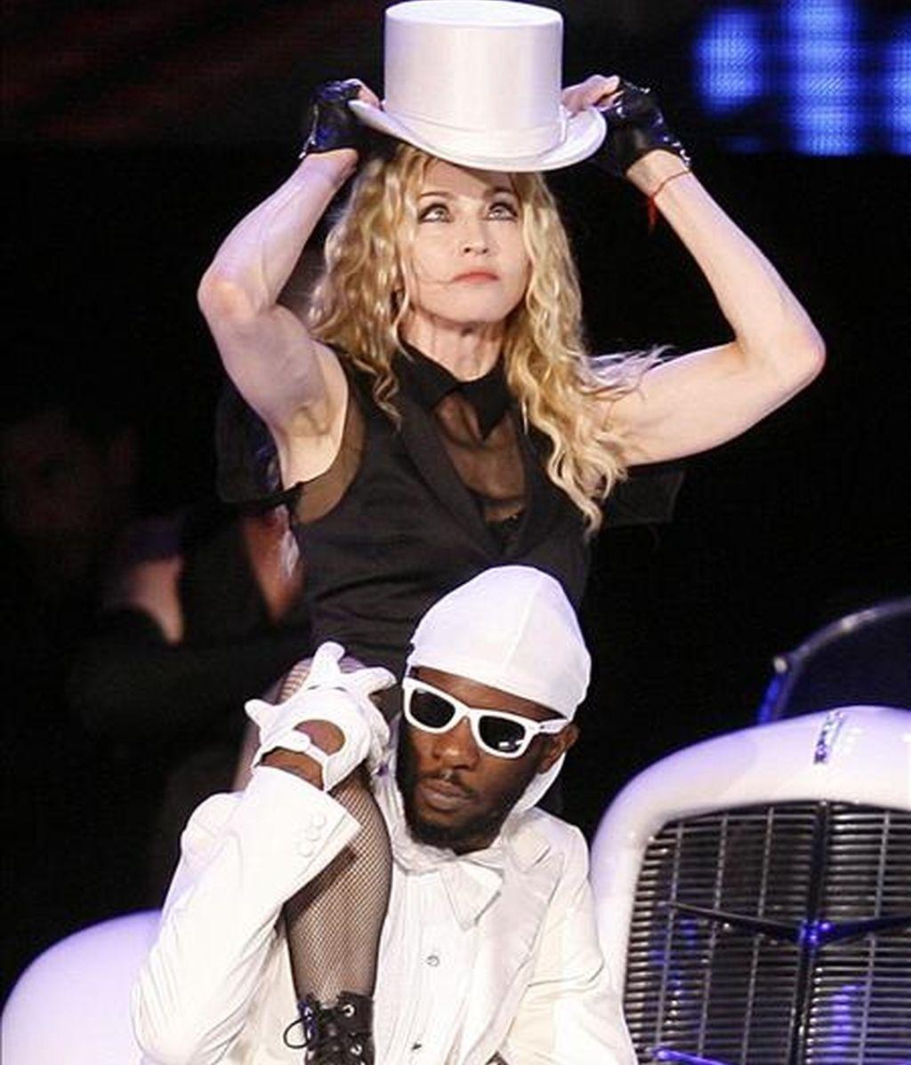 La cantante estadounidense Madonna durante un concierto en el estadio de Maracaná, en Río de Janeiro (Brasil). EFE/Archivo