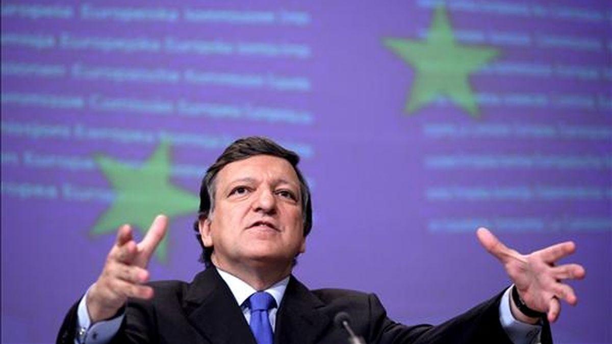 El presidente de la Comisión Europea (CE), José Manuel Durão Barroso, hoy en Bruselas. EFE