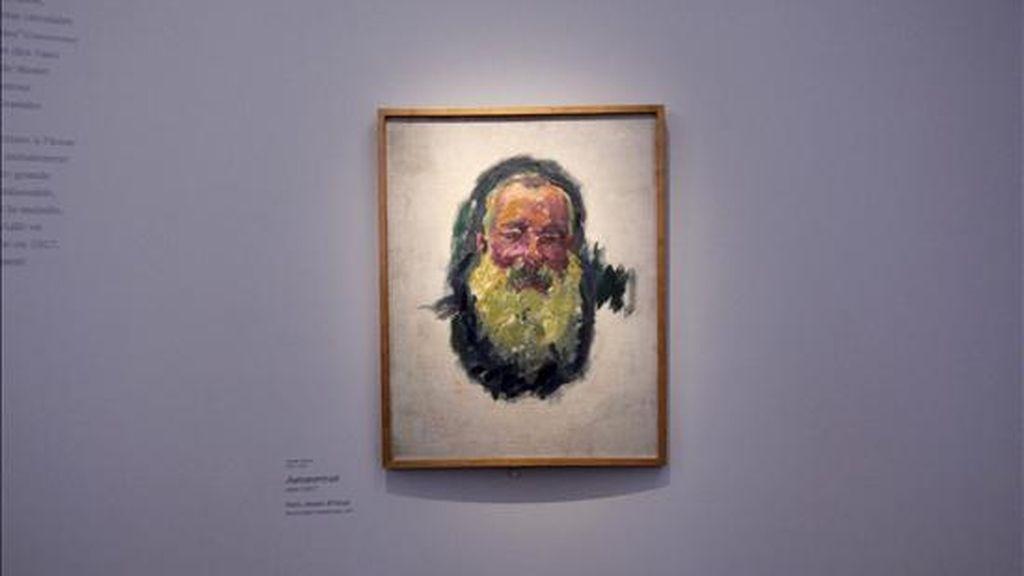 """Vista del cuadro """"Autorretrato"""" (1917), de Claude Monet (1840-1926) expuesto en una retrospectiva del pintor francés en el Grand Palais, en París, Francia. La retrospectiva tendrá lugar hasta el 24 de enero de 2011. EFE"""