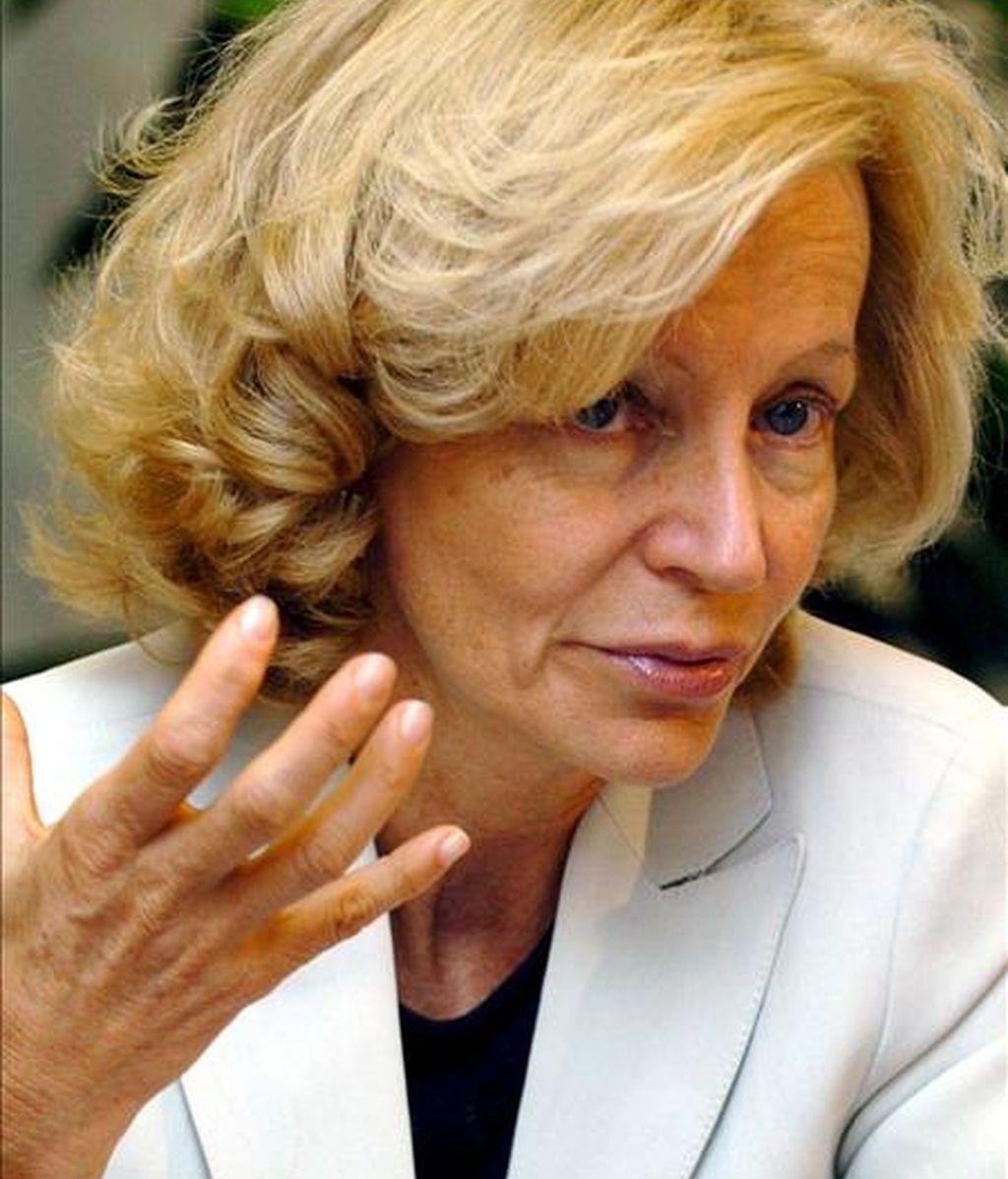 La ministra de Administraciones Públicas, Elena Salgado. EFE/Archivo