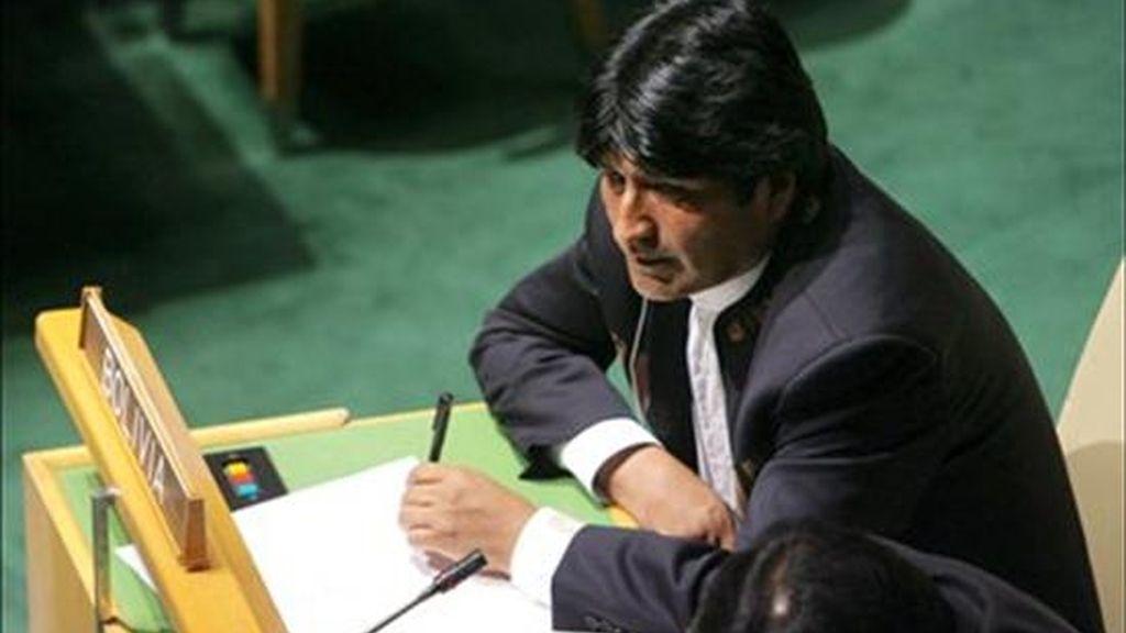 """El nuevo presidente de Estados Unidos, Barack Obama, """"tiene la obligación moral y ética de reparar un daño que cometieron los ex presidentes de su país"""", dijo el presidente de Bolivia, Evo Morales (en la foto). EFE/Archivo"""
