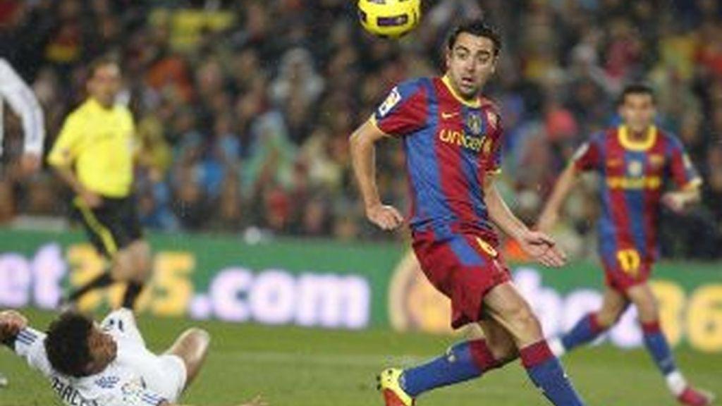 Xavi, en el partido de ida. Foto: Gtres