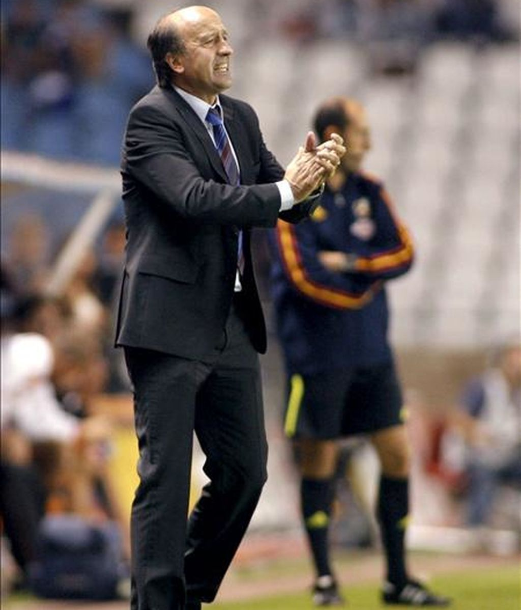 El entrenador del Deportivo de La Coruña, Miguel Ángel Lotina. EFE/Archivo