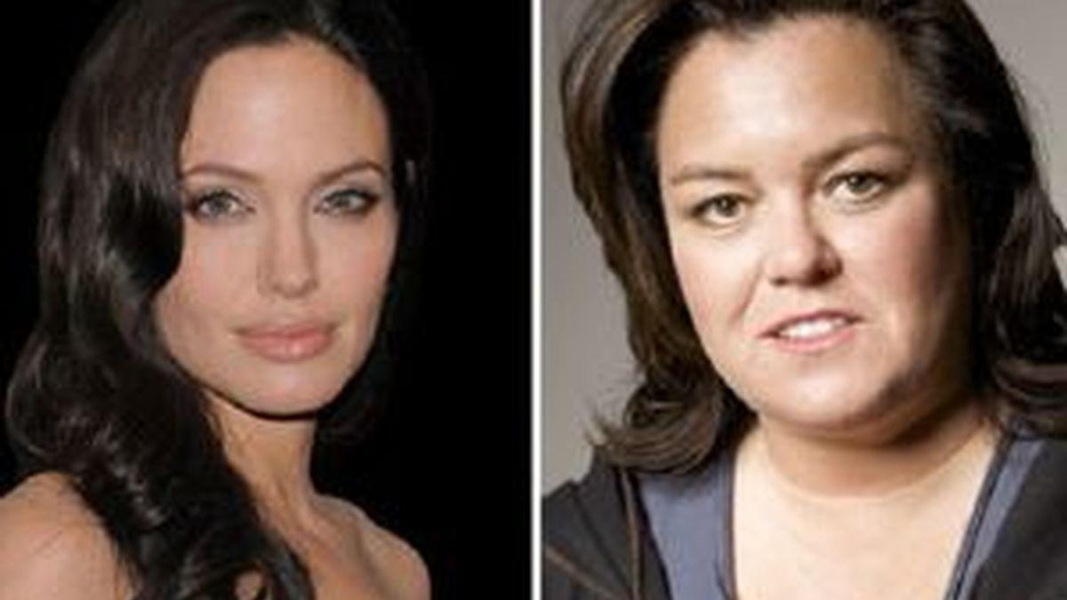 Angelina Jolie y Rosie O'Donnell. Foto: AP