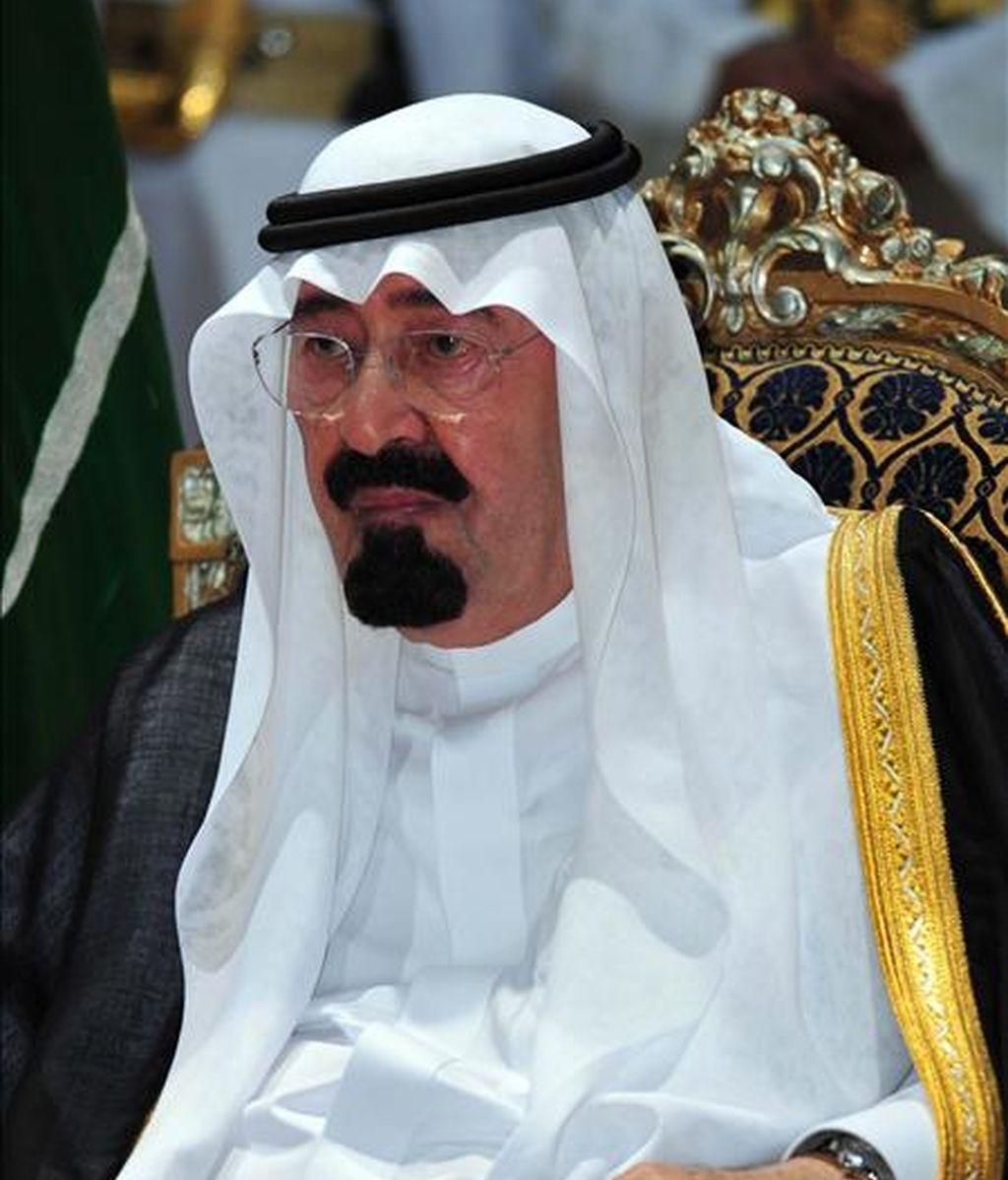 El rey de Arabia Saudita, Abdalá bin Abdelaziz, de 86 años, consiguió situarse en la tercera posición del listado. EFE/Archivo