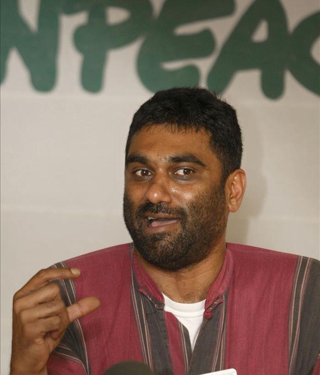 El director de Greenpeace Internacional, Kumi Naidoo. EFE/Archivo