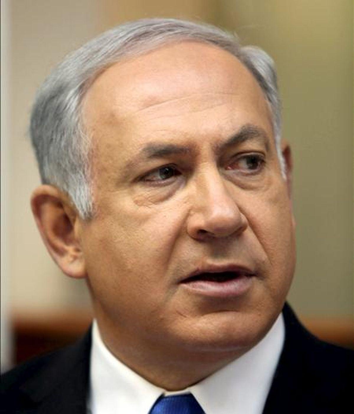 """""""Iniciemos simplemente el diálogo y una de las cosas que abordaremos inmediatamente es el asunto de los asentamientos y eso es lo que propongo que se haga"""", señaló el primer ministro israelí, Benjamín Netanyahu. EFE/Archivo"""
