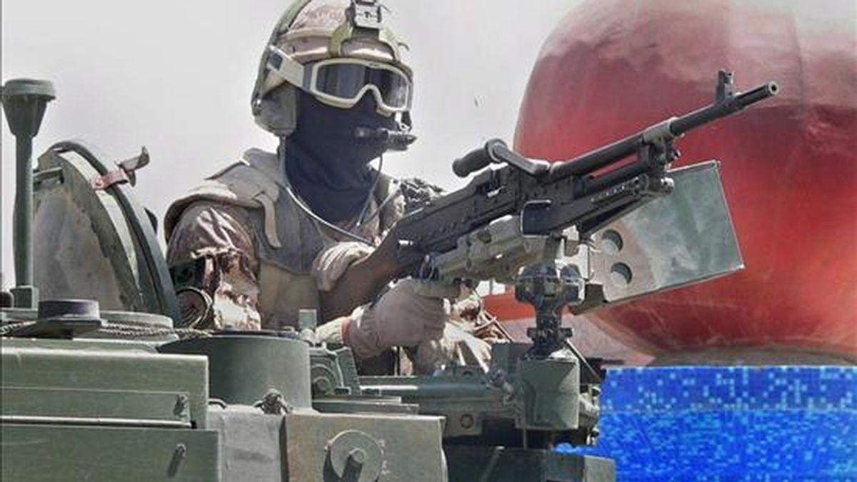 Un soldado canadiense de la Fuerza Internacional de Asistencia a la Seguridad en Afganistán (ISAF). EFE/Archivo