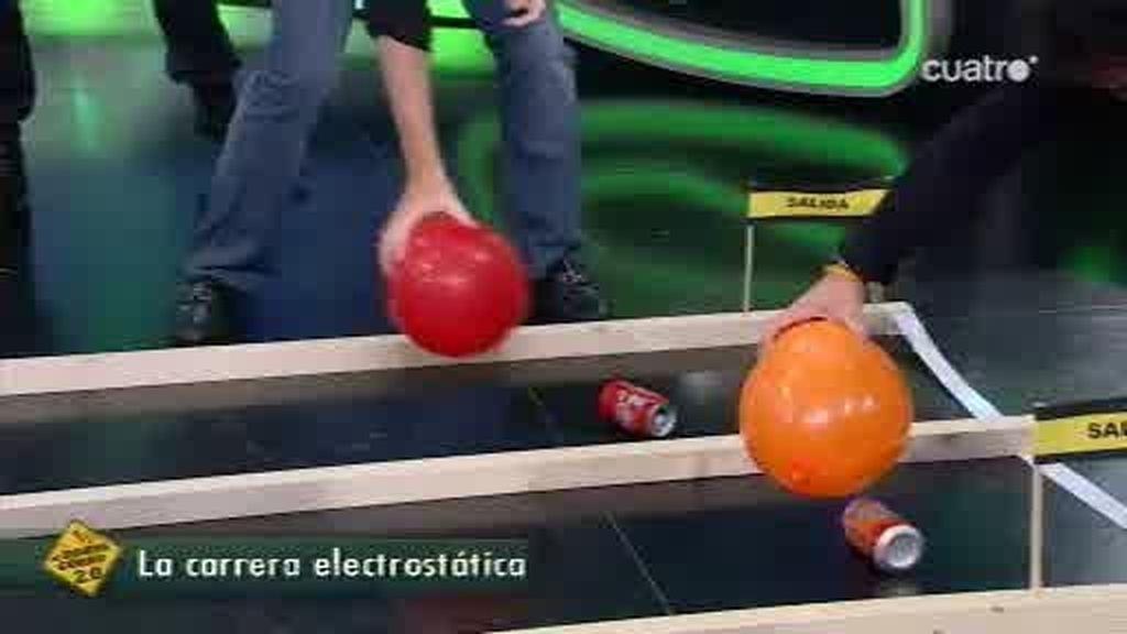 Carrera de globos entre Toni Elías y Pablo Motos