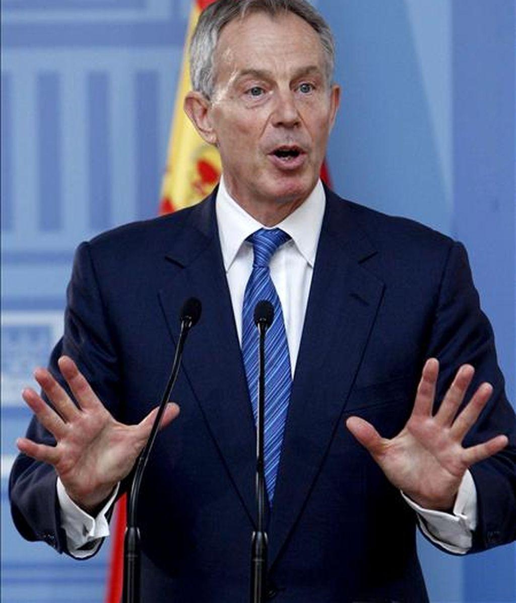 El ex primer ministro británico y enviado especial del Cuarte de Madrid para Oriente Medio, Tony Blair. EFE/Archivo